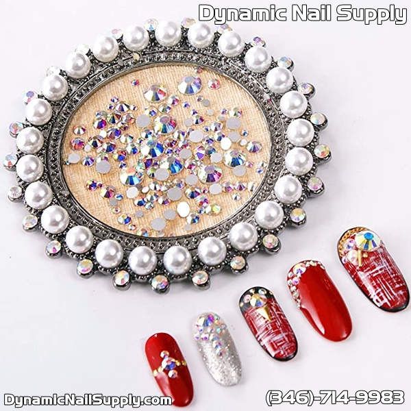 Reviews for 2592pcs Flatback Crystal Irridescent AB Rhinestones Round Beads Gem Pearls for 3D Nail Art DIY Crafts Clothes Shoes Phone Case Decoration